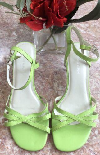 à en bride Nouveau cheville ouvert bout à talons cuir Vianni avec vert Vert en Sandales Roberto X8RHS