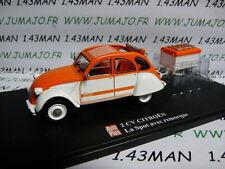 voiture 1/43 ELIGOR Autoplus CITROËN 2CV n°11 : SPOT + remorque
