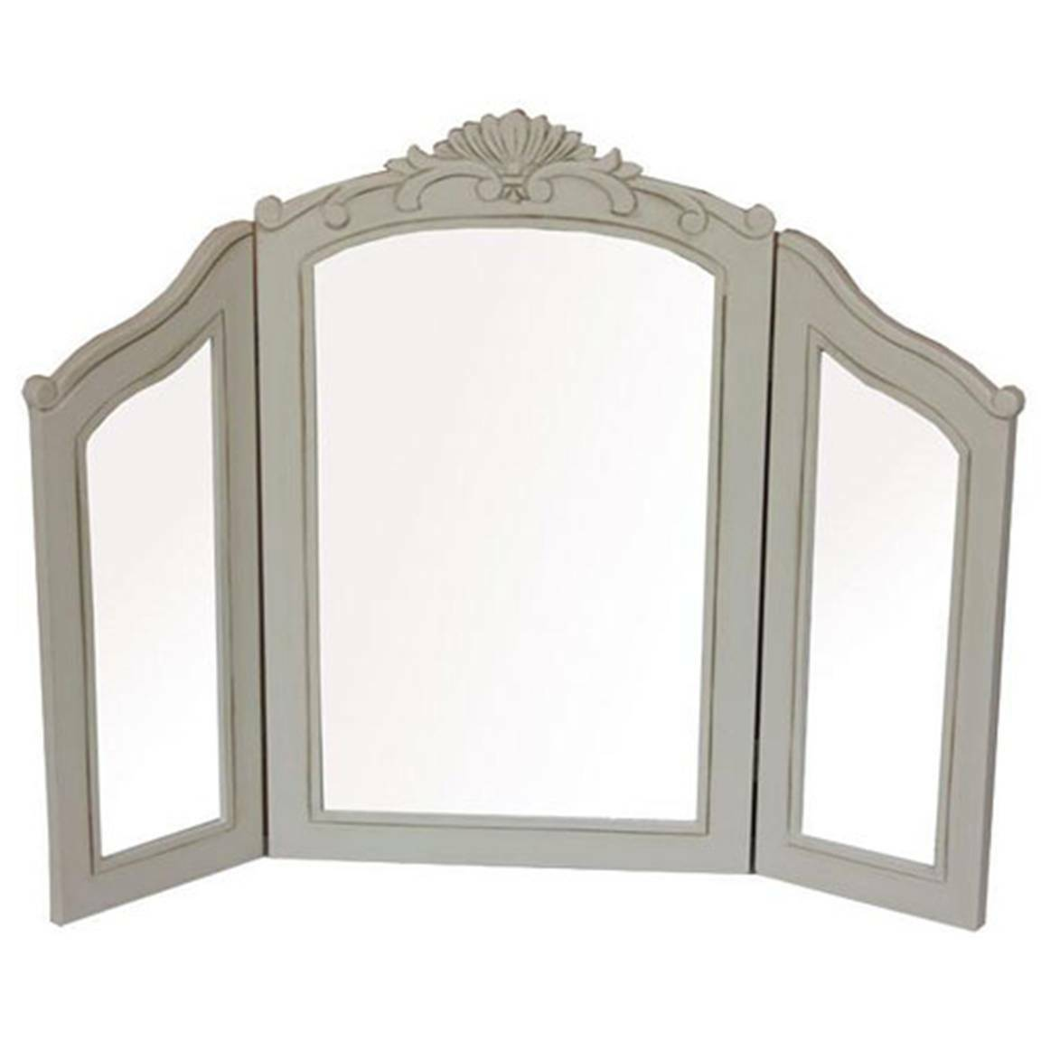 French country triple dressing table mirror shabby chic