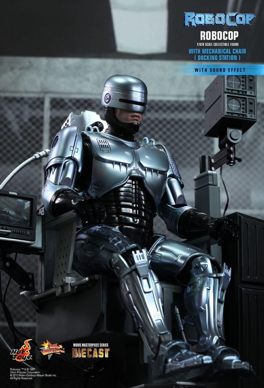 1 6 Hot Juguetes MMS203 D05 Robocop Con Silla Mecánica Figura De Estación De Acoplamiento Nuevo