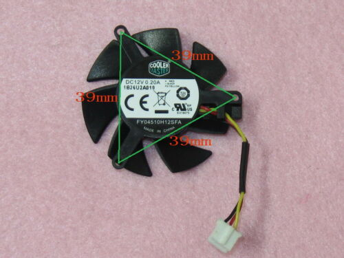 45mm MSI R6570 R6670 N610GT Fan Replacement 39mm 3Pin FY04510H12SFA 0.20A R173b