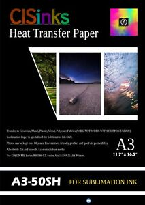 50-Sheets-Sublimation-transfer-paper-suitable-A3-12-034-16-5-034-Heat-Press-Printing
