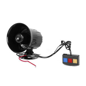 Details about 3 Sounds 30W 12V Car Loud Warning Alarm Police Fire Siren  Horn Anti-Theft NE8