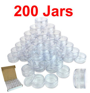 200-Packs-10-Gram-10ML-High-Quality-Cream-Cosmetic-Sample-Clear-Jar-Containers