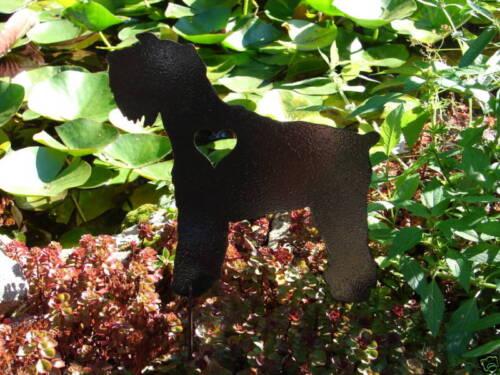 MINIATURE SCHNAUZER PET DOG MEMORIAL GARDEN YARD LAWN