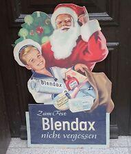 Antiker Nikolaus Werbe Pappschild Blendax Max Weihnachten Schild Aufsteller 50er