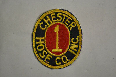 "Collectibles Chester Hose Company Patch 3""x2""&1/2 Inches Great Colors Firefighter Nourishing The Kidneys Relieving Rheumatism Advertising"