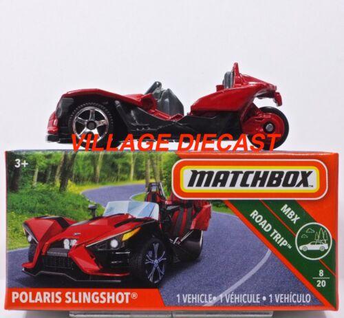 2019 Matchbox Power Grabs #66 Polaris Slingshot® SUNSET RED MIB