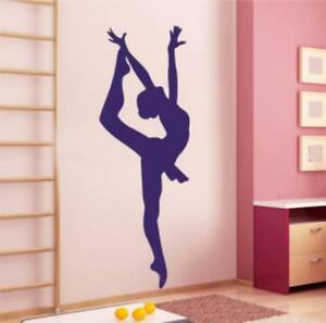 Image is loading Ballerina-Vinyl-Wall-Decal-Sticker-Dancer-Girls-Bedroom- 40c441b3495c