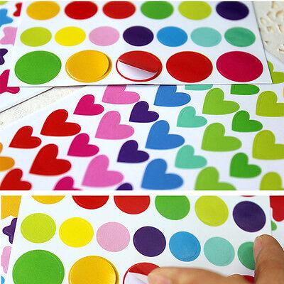 6 Pcs Colorful Rainbow Sticker Diary Planner Journal Scrapbook Albums Photo DIY