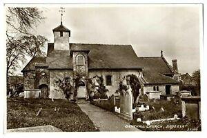 Antique RPPC real photograph postcard Benthall Church Broseley
