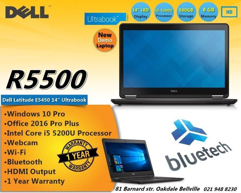 """Dell Latitude E5450 - 14"""" - Core i5 5200U - 8 GB RAM - 500 GB – NEW Demo Laptop."""