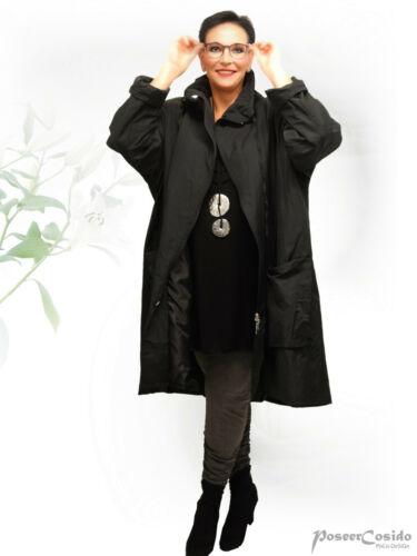 AKH Fashion Long Jacke Mantel leicht Taft 46 48 50 52 54 56 58 schwarz pink gelb