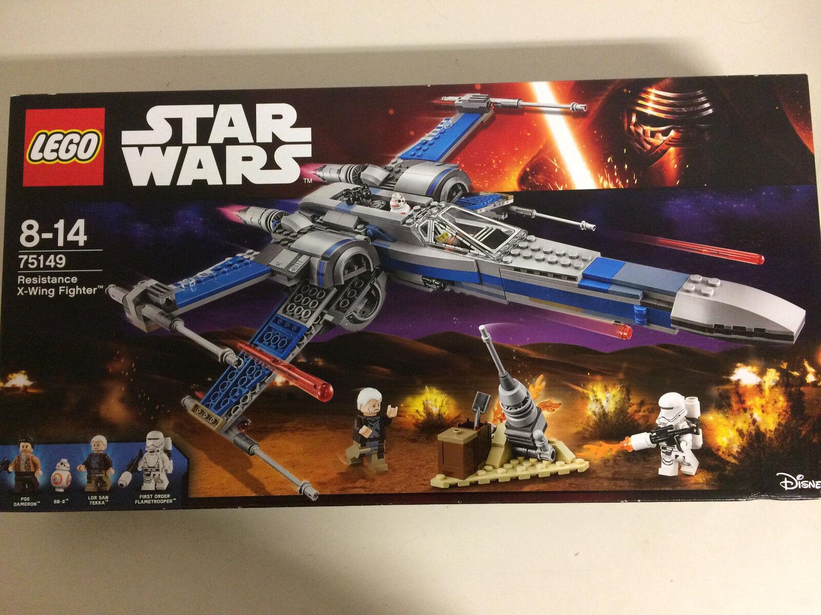 LEGO STAR WARS 75149  nuovo SCATOLA DANNEGGIATA RESISTANCE X WING FIGHTER BB 8