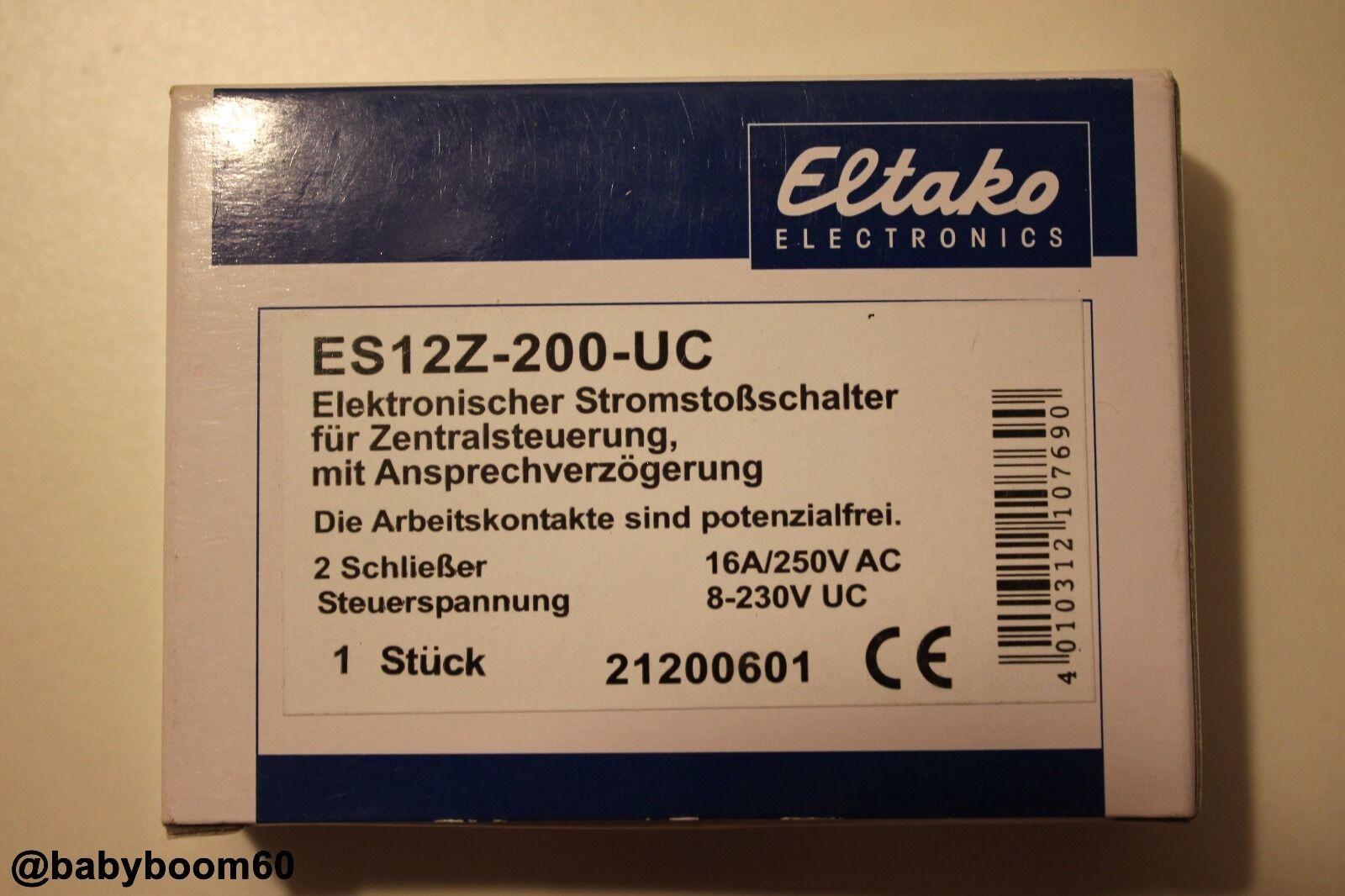 Eltako Elektronische Stromstoßschalter für Zentralsteuerung ES12Z-200-UC   2S   Elegante Form