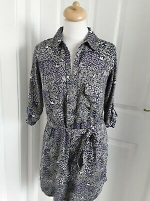 NEW RRP £36 Ex White Stuff Blue Multi Floral Bird Print Tunic Dress