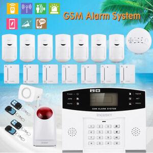 GSM-SMS-Funk-Haus-Alarmanlage-Sicherheit-SIM-IR-Sensor-Anruf-Bewegungsmelder-DE