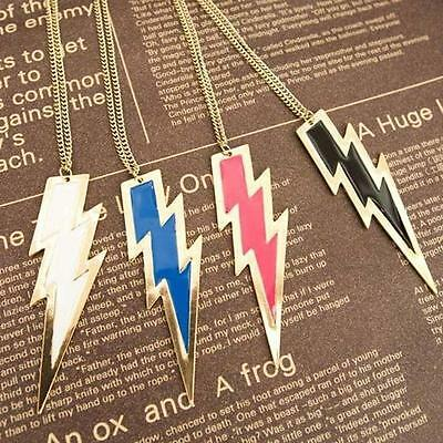 1pcs Wholesale Retro Kitsch mixcolor Gold LIGHTNING BOLT Thunder Necklace