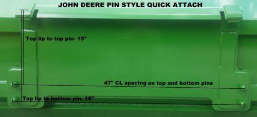 6/' XP24 Pullback John Deere quick attach snow pusher box LOCAL PICK UP RTR