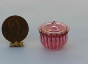 "Dollhouse Miniature Artisan Cranberry /"" Wine Glass /"" by Philip  Grenyer"