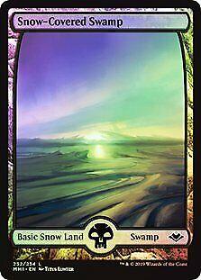 FOIL Modern Horizons NM CARD ABUGames Snow-Covered Swamp Full-Art