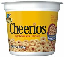 Cheerios Cereal Cup, Gluten Free Cereal, 1.3 oz (Pack of 12) New