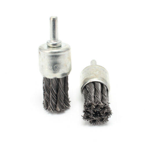 """2Pcs 6mm Shank 1/""""Pen Type Stainless Steel Knot Wire End Brush For Die Grinder"""