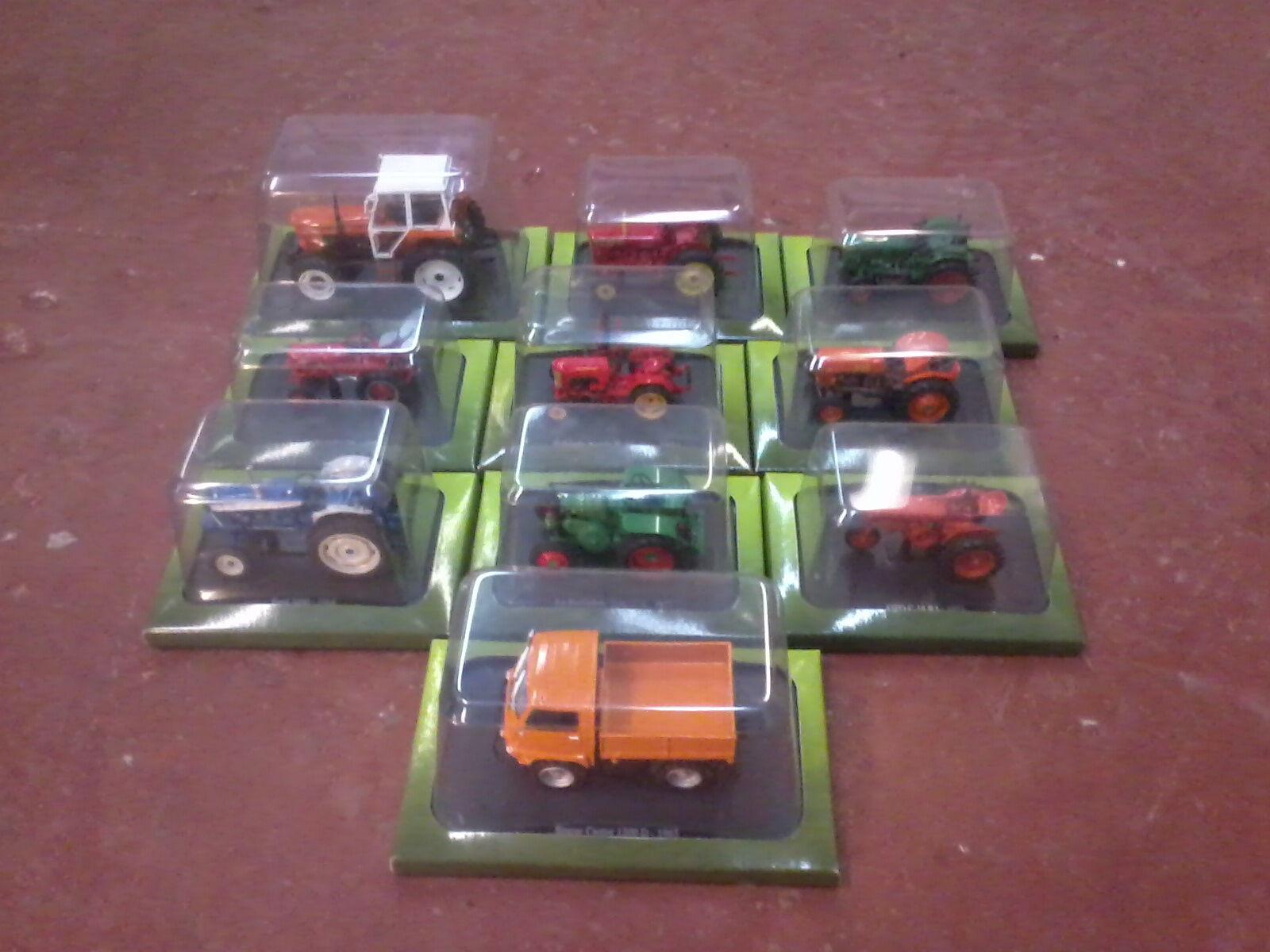10 x hachette model tractors