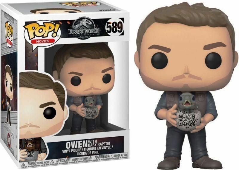 Funko Pop Jurassic World Owen With Baby Raptor (589) Exclusive +P Pred