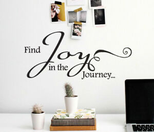 find joy in the journey wall sticker home quotes inspirational