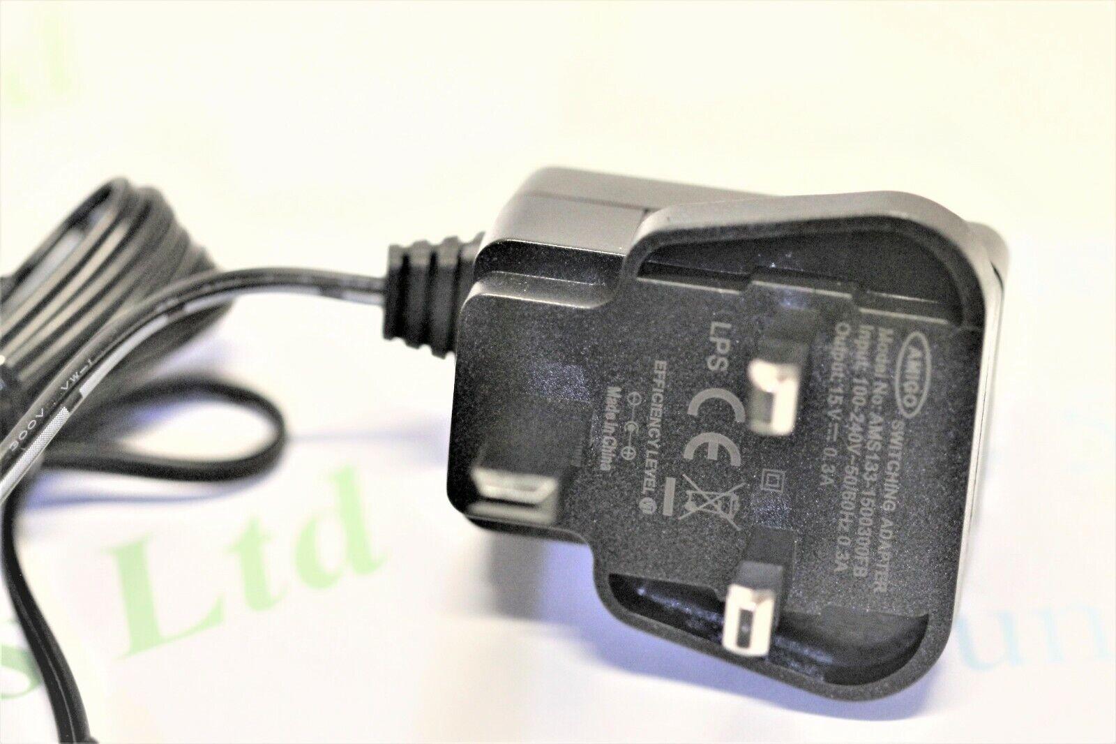 1000700060-00 TOA radio microphone receiver power supply 15v dc 300mA