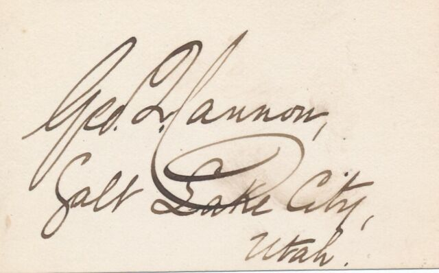 George Q. Cannon - Signature of the Early Mormon Leader