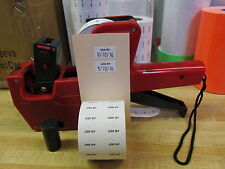 New Mx 5500 Date Price Labeler 2000 Preprinted Use By Labels Amp 1 Inker
