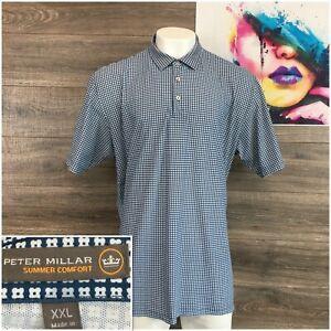 Peter-Millar-Summer-Comfort-Mens-Polo-Golf-Shirt-Mens-Size-2XL-Short-Sleeve