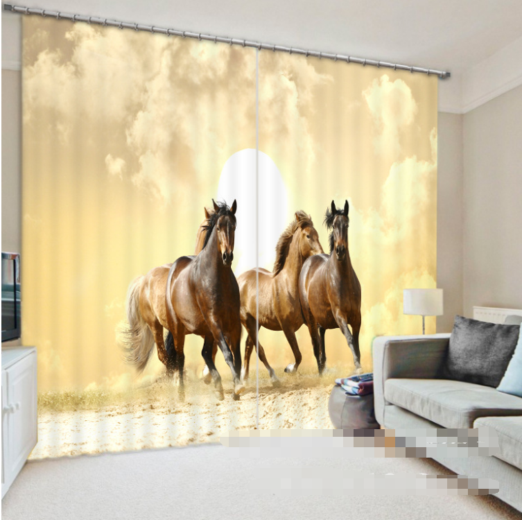 3d sole cavallo 0568 blocco foto sipario pressione sipario tende tessuto finestra de