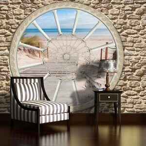 Fototapete Tapete Poster Foto Tapeten Wandbild Natur Strand Fenster
