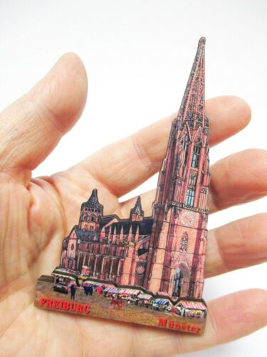 Freiburg Münster Souvenir Deluxe Holz Magnet Germany Neu
