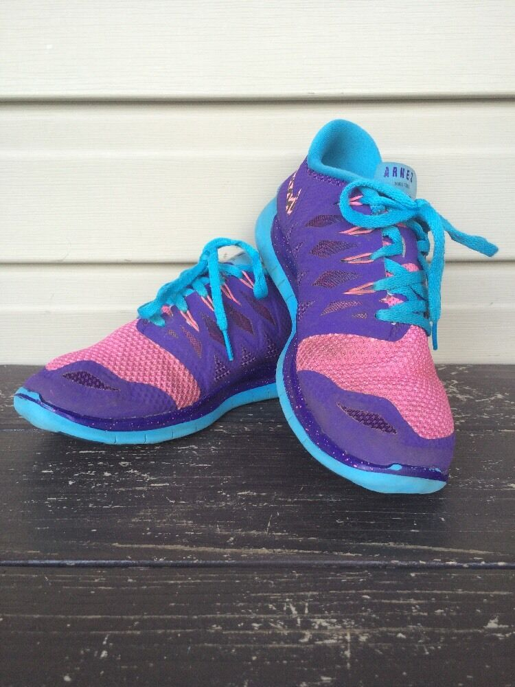 NIKE WOMEN'S FREE 5.0 RUNNING ATHLETIC SHOES CUSTOM 'LIV' PURPLE SZ 8 EUC! $150