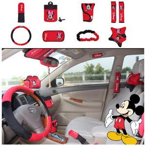 10pcs set cute cartoon mickey hello kitty car seat cover - Hello kitty car interior accessories ...