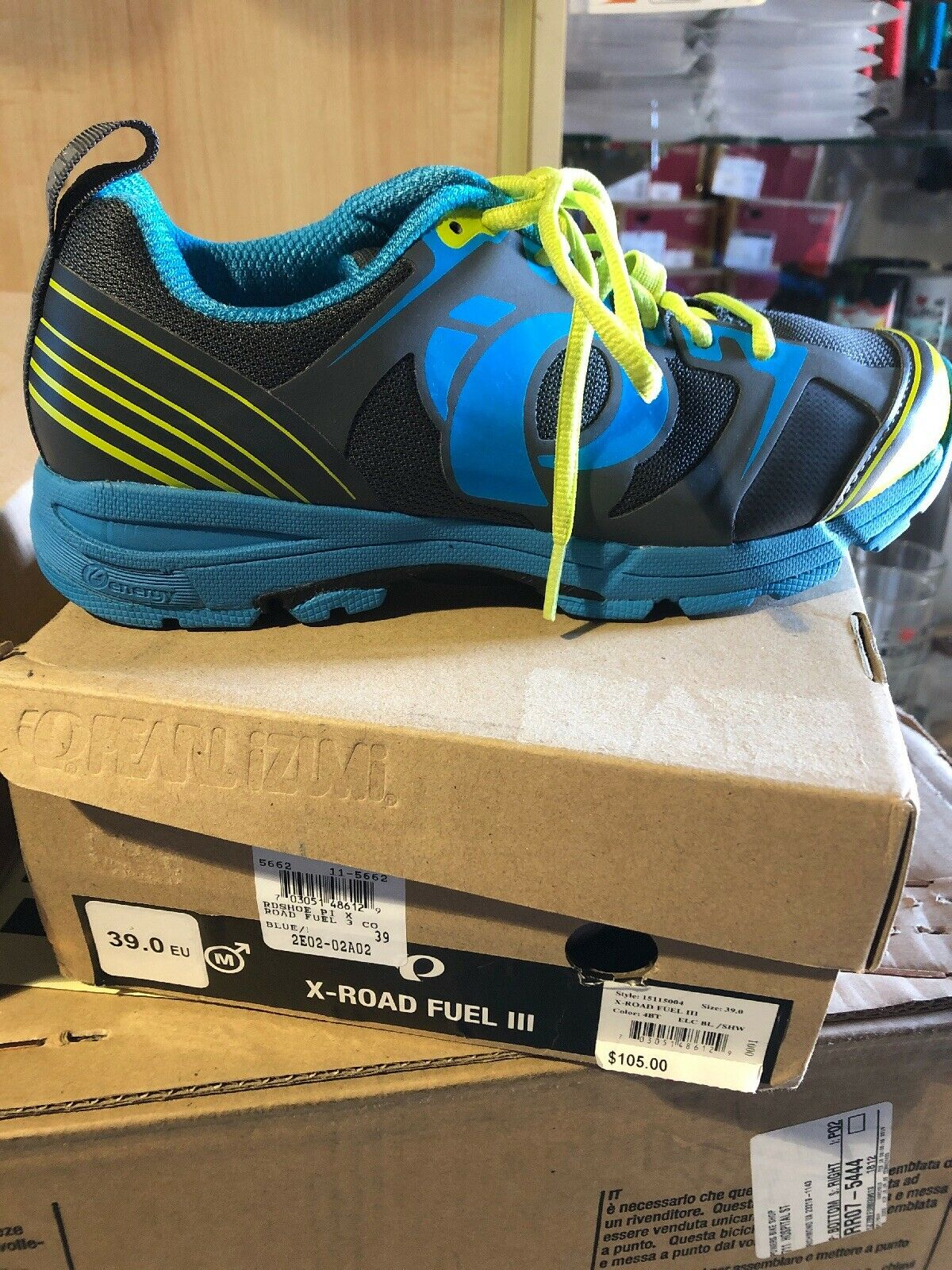 Brand new Pearl Izumi X-Road Fuel III Men's MTB Casual shoes SIZE shimano