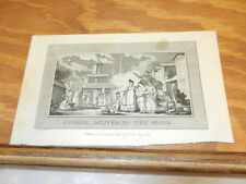 1789 Antique Print//CHINESE DELIVERING THE MOON