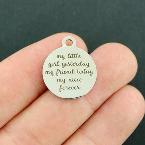 my niece forever my little girl Stainless Steel Charms my friend BFS1639
