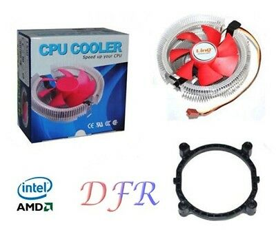 DISSIPATORE VENTOLA RAFFREDDAMENTO PER CPU INTEL E AMD SOCKET 1155 775 AM2 AM3