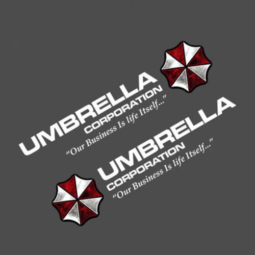 2x reflektierend sticker Aufkleber UMBRELLA CORPORATION logo redident evil 8cm