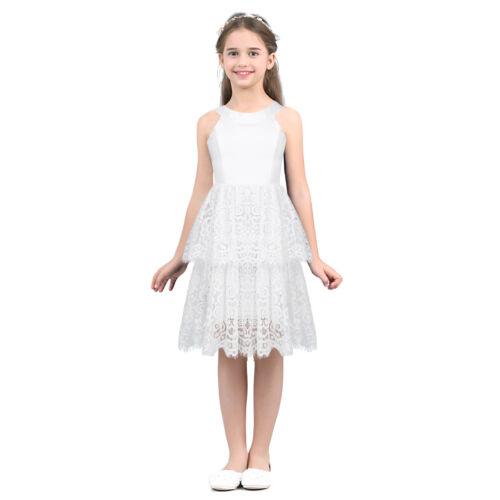 Flower Girls Kids Communion Party Gown Princess Pageant Bridesmaid Wedding Dress