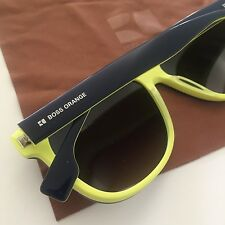 HUGO BOSS ORANGE Dark Blue Yellow Men's Gradient Sunglasses BO0064/S NEW Case