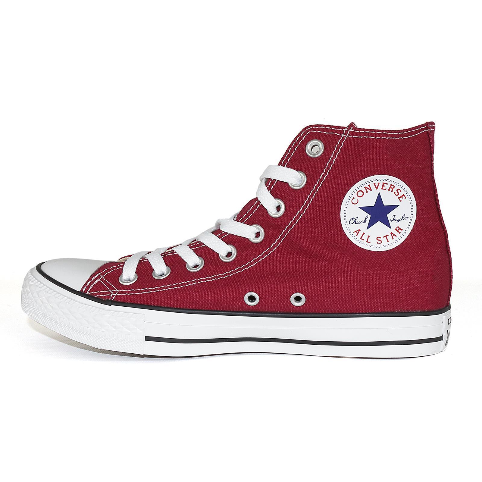 Converse All Star Hi Chucks Sneaker unisex Schuhe, Farbe maroon, 50669