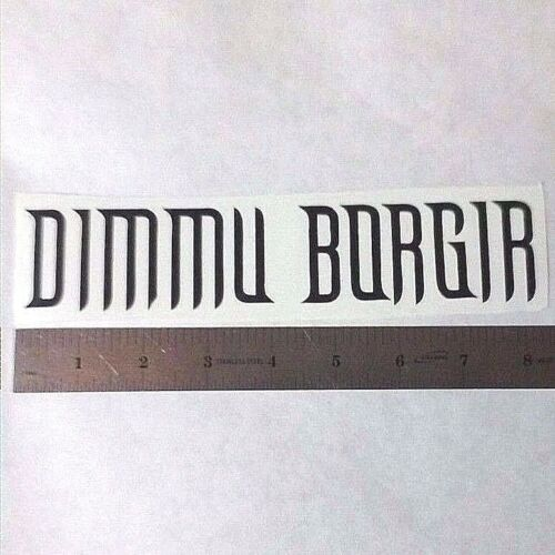 DIMMU BORGIR Vinyl DECAL STICKER BLK//WHT//RED Black Metal BAND Logo Window Guitar
