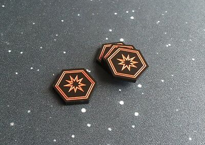 black series acrylic critical tokens X-Wing 2.0 compatible
