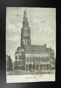 Hotel-city-Arras-print-engraving-c1850-Felix-THORIGNY-1824-1870-sc